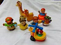 Bundle Of Fisher Price Little People Figures, Car & Animals