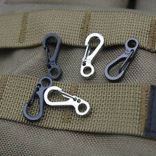 5X Useful Hook Stainless Steel Split SF Keychain Key Ring Clasps Clips Carabiner