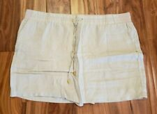 NEW Women's ELLEN TRACY COMPANY Sandstone Skort Skirt Shorts Size 2XL XXL