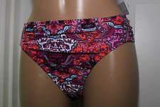 NEW Kenneth Cole Scarfs On Deck Sash Hipster Bikini Bottom XL RS6RM96