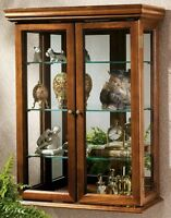 """Country Tuscan Hardwood Design Toscano Exclusive 26"""" High Wall Curio Cabinet"""