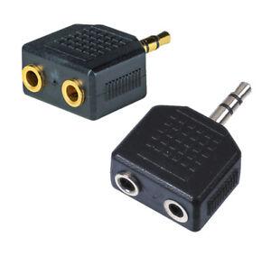 3,5 mm Y Adapter Stereo-Klinken Stecker auf 2x Stereoklinke kupplung