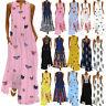 Women Sleeveless Bohemia Kaftan Long Maxi Dress Ladies Beach Party Sundress Plus