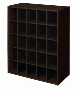 Display Stackable 25-Cube Cubby Shoes Storage Unit Organizer Bookcase ClosetMaid