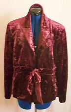 """Fantastic """"CMD""""label purple crushed velvet jacket. Size 14. lined, tie waist."""