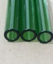 4 inch long 5 Piece Green Pyrex Glass Tubes 12 mm OD 2 mm Thick Wall Tubing Tube