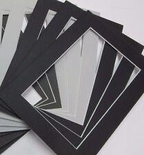 Picture Frame Mat 5x7 for Postcard 3 3/8 x 5 3/8 Black set of 16 mats