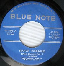 STANLEY TURRENTINE Smile Stacey pts.1 & 2 Rudy Van Gelder stamped Jazz 45 C45