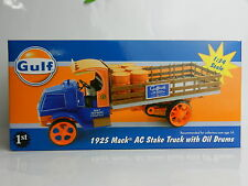 1:34 First Gear *GULF OIL* 1925 MACK AC Stake Truck w/OIL DRUMS *NIB*