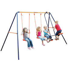 Hedstrom Children's Double Swing & Glider Kids Outdoor Garden Multi Play Set