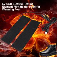 1 Pair 5V USB Electric Heating Element Film Heater Pads 6*20cm Warm Feet New