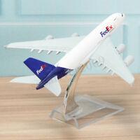 16cm Metal Plane Model Aircraft Airbus A380 FedEx Aeroplane Scale Desk Toy 1:400