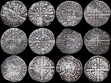 Six Medieval Hammered Silver Pennies, 13th-14th Century. Minted In London.