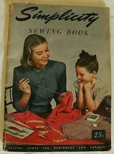 SIMPLICTY sewing book vintage 1949 hints for beginners and experts