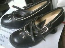 JOHN FLUEVOG MINI MASAREK MARY JANE BLACK PUMPS 7.5 TRIPLE BUCKLE SHOES HEEL