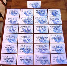 New! 25 Watercolor Wedding Table Scripture Cards Centerpiece Decor Decoration