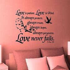 Wall Decal. Inspirational Decal. Christian. Bible Scipture. 1 Corinthians 13:4