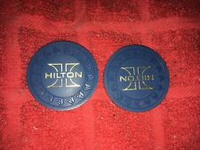 New Listing86 Vintage Las Vegas Hilton Casino Hhr Mold Blue Poker Casino Roulette Chips