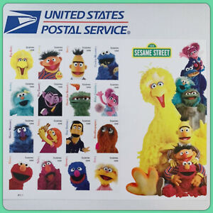 USPS '123 Sesame Street' Forever Postage Stamps New Full Sheet of 16 Cute! Rare!