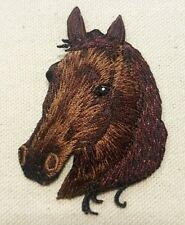"""APPALOOSA HORSE HEAD Left IRON ON / SEW ON EMBROIDERED APPLIQUE PATCH 2.5"""" H."""