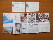 VECCHIO DEPLIANT RAVELLO HOTEL PALUMBO SALERNO GIARDINI RUFOLI 1959 MARCA BOLLO