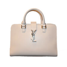 SAINT LAURENT YSL Women's White Cabas Satchel 472469 NWT