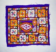 Bleu Handmade Rare Patch Kutch Broderie Patchs Pour Coussin Oreiller Robes Art