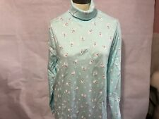 Christmas Lady Turtleneck S M L Xl  2x 3x blue mint polar bear snowflake long sl