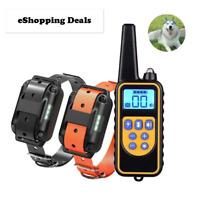Electric Dog Pet Training Collar Remote Control Shock Vibration Sound Waterproof