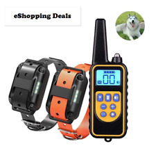 Electric Dog Pet Training Collar Remote Control Shock Vibration Sound Waterproof
