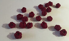 Handmade chinese knot bead balls hollow (cherry red) 0.6 x 0.6 cm - 20 pieces