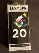 (LOT OF 2) NEW IN BOX Genuine Lexmark 20 Tri-Color Ink Cartridge 15M0120