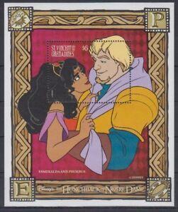 St. Vincent - Disney, Hunchback of Notre Dame, Esmeralda - Souvenir Sheet - MNH