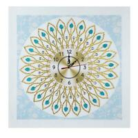 DIY Special Shaped Diamond Painting Flower Wall Clock Cross Stitch Decor R1BO