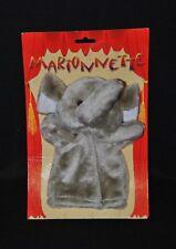 Peluche doudou marionnette éléphant CMP gris blanc 100% NEUF