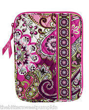 VERA BRADLEY~L-ZIP E-READER SLEEVE~VERY BERRY PAISLEY~FITS I-PAD MINI-ETC~BNWT!