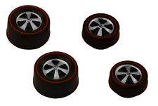 4 Brightvision Redline Wheels – 2 Small & 2 Medium Deep Dish Dull Chrome Style