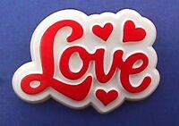 Hallmark PIN Valentines Vintage LOVE SCRIPT HEARTS Red White Holiday Brooch