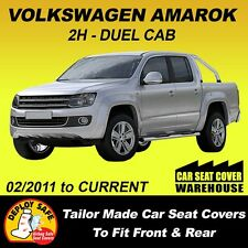 Car Seat Covers To Fit VOLKSWAGEN AMAROK Front & Rear  2011-Current Airbag Safe!
