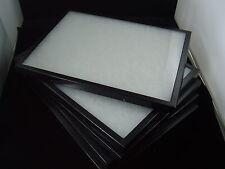 six jewelry display case riker mount display box shadow box collection 8X14 X 1
