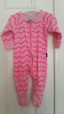 Girls One-pieces Near New 000 Bonds Peach Stripe Vintage Stretchies Easysuit Wondersuit Jumpsuit