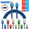 Nylon Braided Rope USB-C Type-C 3.1 Data Sync Charger Charging Cable Cord Best