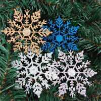 12Pcs/Set Glitter Snowflake Xmas Tree Decoration Christmas Ornaments Deco CC21