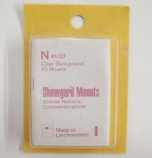 Showgard Clear Stamp Mounts N 41/27 40 Pieces Back Opening UN NOS (m16)