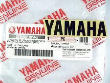 GENUINE Yamaha VINYL STICKER-EMBLEM-60mm-BLACK-LOGO-DECAL-Reg. Air Mail-6cm