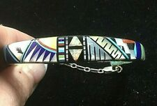 Southwestern Inspired Inlaid Inside & Out Turquoise Multiple Stone Bracelet SS