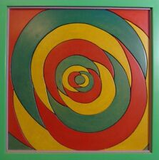 Dieter Günzel :Spiralkomposition aus farbigen Holzteilen, 1995