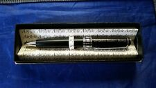 DSS Diplomatic Security Service Pen Black Ink Medium Point & Chrome Accent