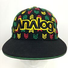 Mens Analog Hat Cap Embroidered Snowboarding 100% Wool 59 Fifty New Era Sz 7 3/8