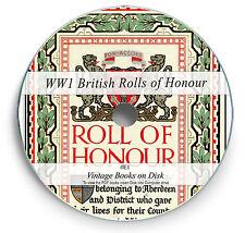 Rare Books on DVD - British Rolls of Honour WW1 World War 1 - The Great War E1